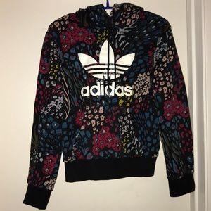 Floral Adidas hoodie
